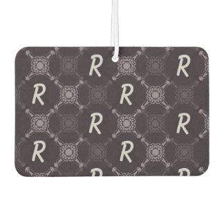 Repeating Letter Monogram Car Air Freshener