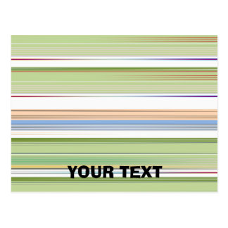 Repeating pattern Colorful lists blue, green and p Postcard