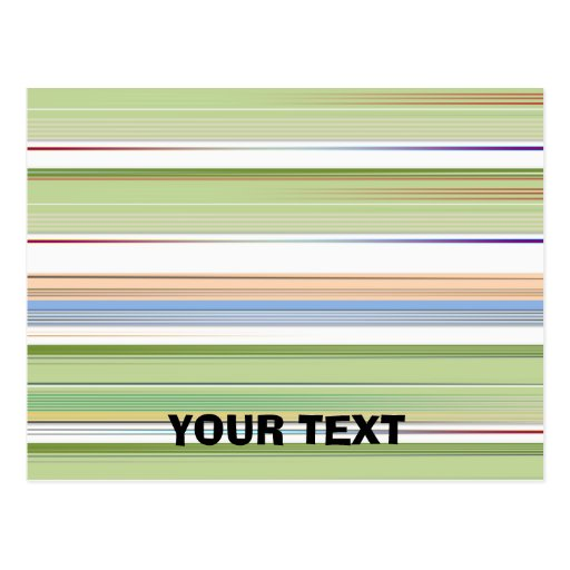 Repeating pattern Colorful lists blue, green and p Postcards