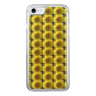 Repeating Sunflowers Carved iPhone 7 Case