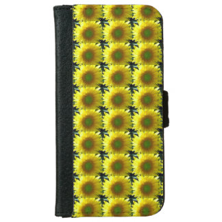 Repeating Sunflowers iPhone 6 Wallet Case