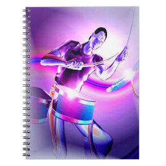 Repercussion - Purple Drummer Note Books