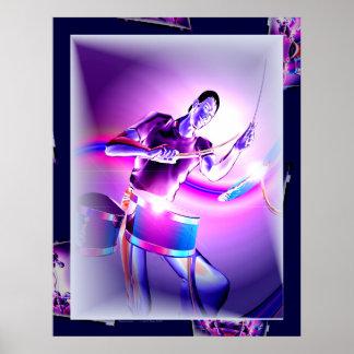 Repercussion - Purple Drummer Poster