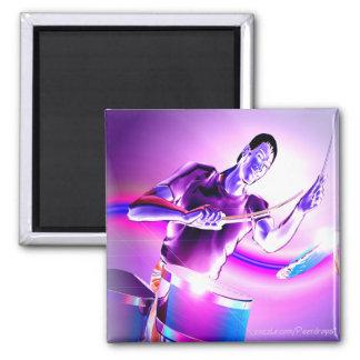 Repercussion- Purple Drummer Square Magnet