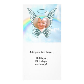 Replace Photo Angel Wings and Heart Photo Cards