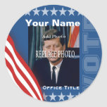 Replace Photo | Campaign Template Round Round Sticker