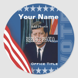 Replace Photo   Campaign Template Round Round Sticker