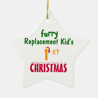 Replacement Kid's 1'st CHRISTMAS Ceramic Ornament