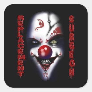 Replacement Surgeon - Evil Clown Square Sticker