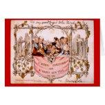 Replica, Antique  First Christmas Card, 1843,