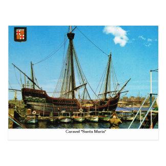"Replica Caravel, ""Santa Maria"" Postcard"