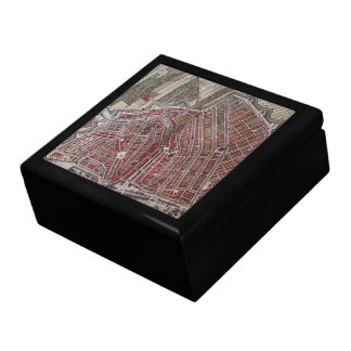 Replica city map of Amsterdam 1652 Large Square Gift Box