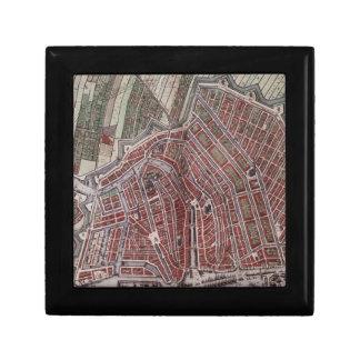 Replica city map of Amsterdam 1652 Small Square Gift Box