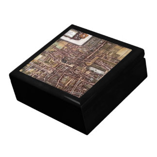 Replica city map of The Hague 1649 Large Square Gift Box