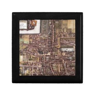 Replica city map of The Hague 1649 Small Square Gift Box