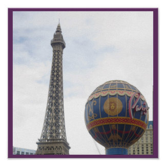 Replica EFFEL Tower : Landmark Travel Destinations Poster