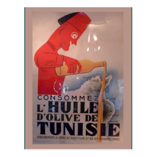 Replica Vintage advertising, L'Huile de Tunisie Postcard
