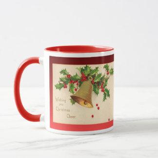 Replica Vintage Christmas, Holly, berries, bells Mug