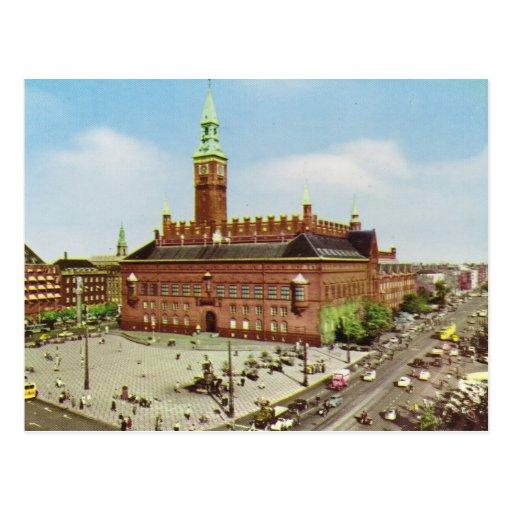 Replica Vintage  Denmark, Copenhagen, City Hall Postcard