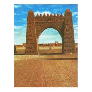 Replica  Vintage Desert Fortress at Adrar, Sahara Postcard