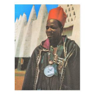 Replica  Vintage Ghana, tribal chief Postcard