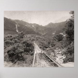 Replica Vintage image, Hong Kong tramway 1880 Poster