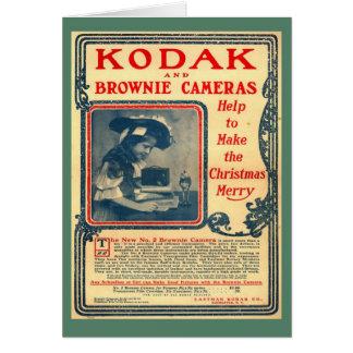 Replica Vintage image, Kodak Brownie, early advert Greeting Card