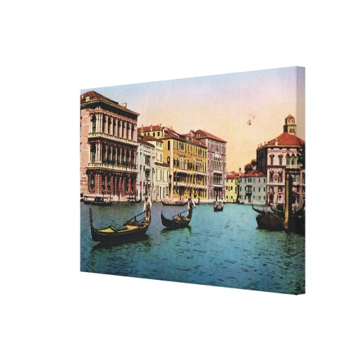 Replica VIntage Image, Venice 1910 Gallery Wrapped Canvas