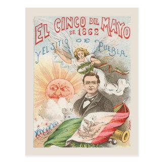 Replica Vintage postcard, Cinco de mayo 1862