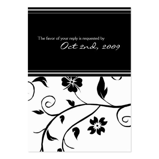Reply Cards - Wedding Business Card Templates