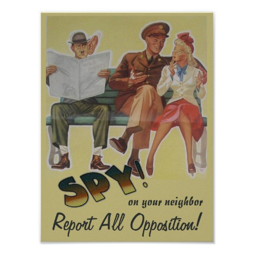 Report All Opposition Political Satire Posters