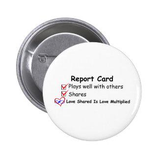 Report Card 6 Cm Round Badge