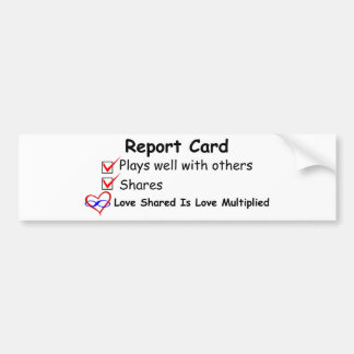 Report Card Bumper Stickers