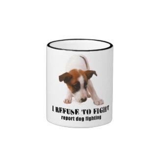 'REPORT DOG FIGHTING' PUPPY MUG