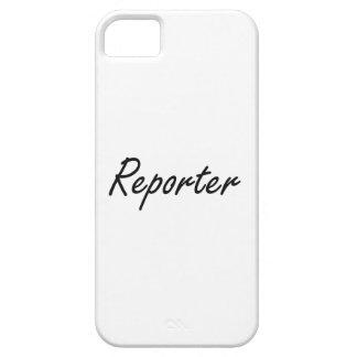 Reporter Artistic Job Design iPhone 5 Cases