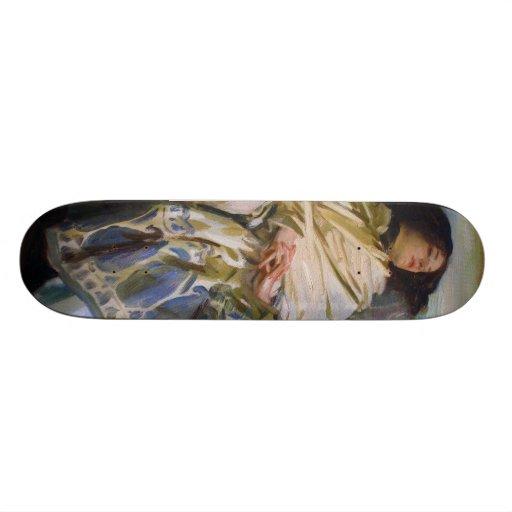 Repose by John Singer Sargent Custom Skate Board