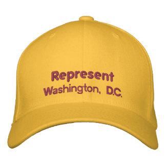 Represent Washington, D.C. Cap Embroidered Baseball Caps