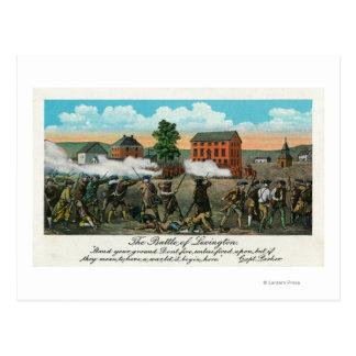 Representation of the Battle of Lexington Postcard