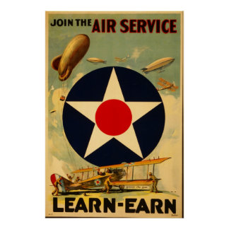 Reprint of a Post-WW1 Recruiting Poster