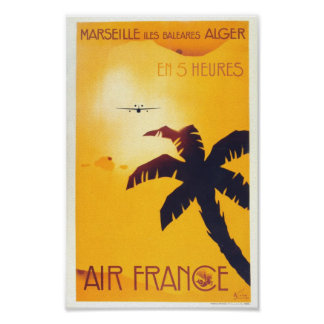 Reprint of a Vintage French Travel Poster