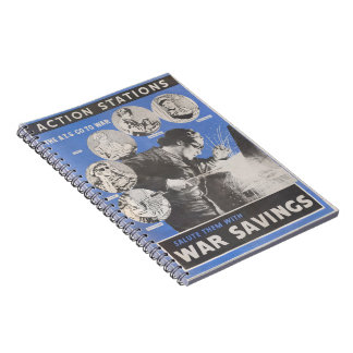 Reprint of British wartime poster. Notebooks