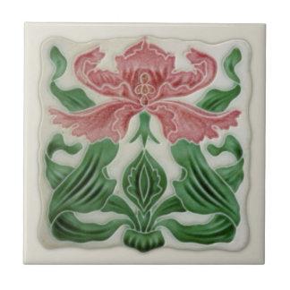 Repro English Art Nouveau H.A.Ollivant Tile c.1900