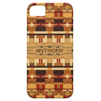 Reproduction Inlaid Wood with Name iPhone 5 Cases