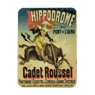 Reproduction of a poster advertising 'Cadet Rousse Rectangular Photo Magnet