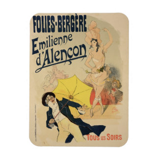 Reproduction of a poster advertising 'Emile d'Alen Rectangular Photo Magnet