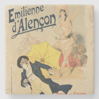 Reproduction of a poster advertising 'Emile d'Alen Stone Coaster