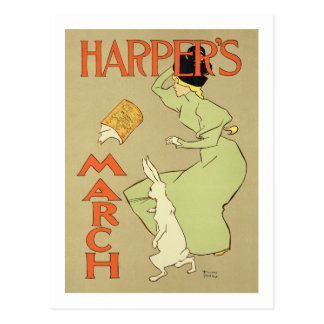 Reproduction of a poster advertising 'Harper's Mag Postcard
