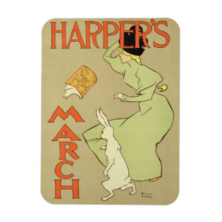 Reproduction of a poster advertising 'Harper's Mag Rectangular Photo Magnet