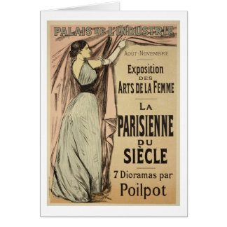 Reproduction of a poster advertising 'La Parisienn Greeting Card