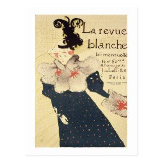 Reproduction of a poster advertising 'La Revue Bla Postcard
